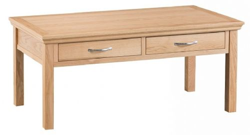 Lymington Natural Oak 2 Drawer Coffee Table